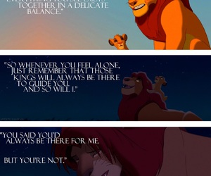 quote, simba, and disney image