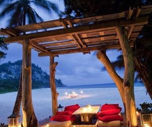beach, romantic, and paradise image
