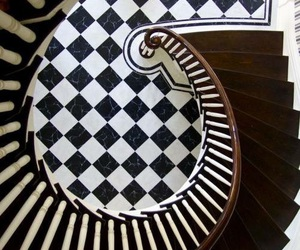 stairs, black and white, and design image