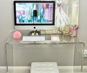 desk, beautyroom, and decore image