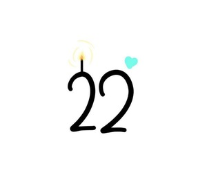 birthday, happy birthday, and 22 years old image