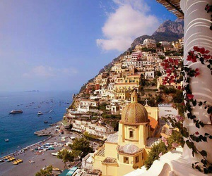 italy, view, and positano image