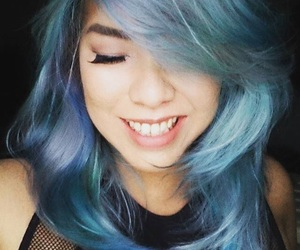 beauty, blue hair, and dyed hair image