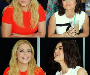 pretty little liars, lucy hale, and sasha pieterse image