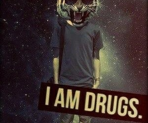 drugs, tiger, and cool image