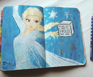 frozen, wreck this journal, and elsa image