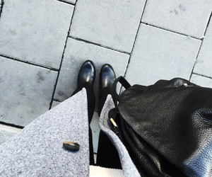 bag, boots, and city image