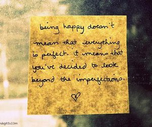 happy, quote, and imperfection image