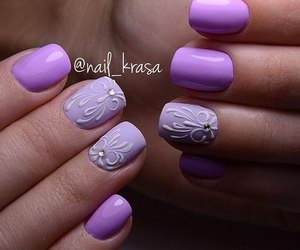 fashion, nails, and violet image