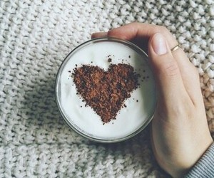 coffee, heart, and autumn image