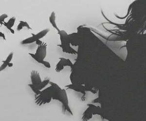 black, girl, and birds image