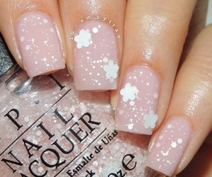 flowers, pretty, and french manicure image