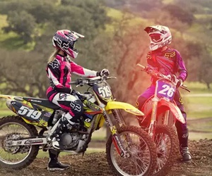 motocross, boy, and couple image