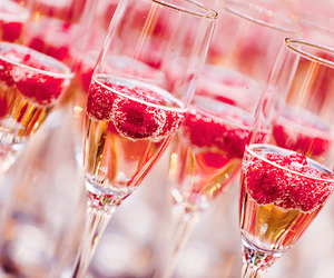 berry, champagne, and new year image