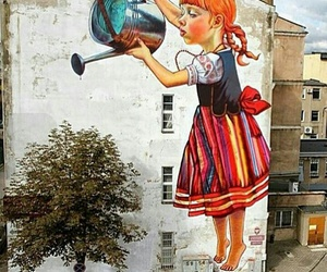 art, tree, and street art image