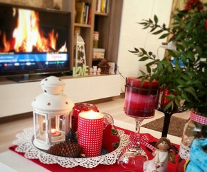 candle holder, christmas, and decoration image
