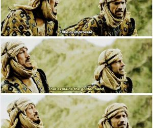 game of thrones, bronn, and jaime lannister image