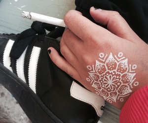 adidas, floral, and flower image
