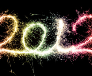 2012, new year, and fireworks image