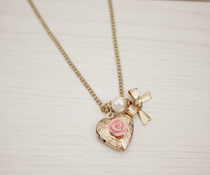 necklace and heart image