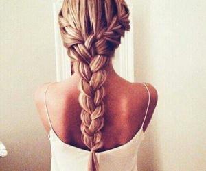 beautiful, hair, and braid image