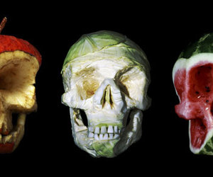 apple, art, and cabbage image