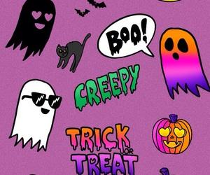 creepy, ghost, and Halloween image