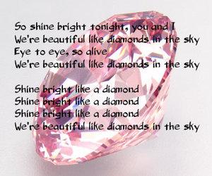 diamond, Lyrics, and rihanna diamond image