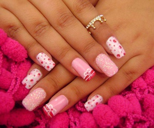 nails, pink, and nails art image