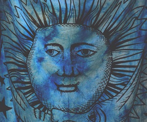 blue, hippie, and sun image