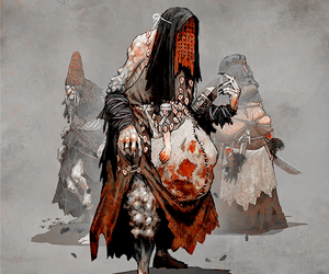 concept art, the witcher, and crones image