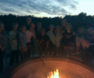 campfire, focus, and girls image