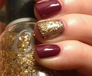 nails, fall, and red image