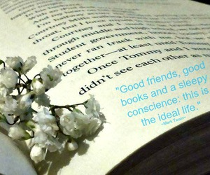 book, quote, and flower image