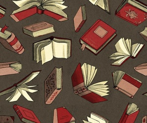 background, books, and wallpapper image