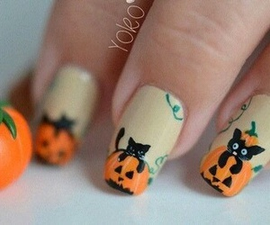 nails, Halloween, and diy image