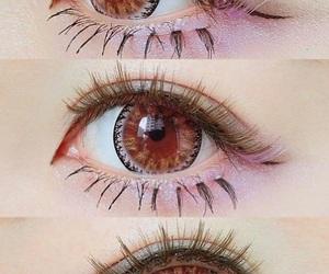 eyes, eyeshadow, and kawaii image