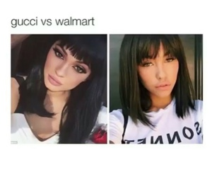 celebrities, gucci, and walmart image