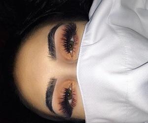 eyebrows, makeup, and eyes image