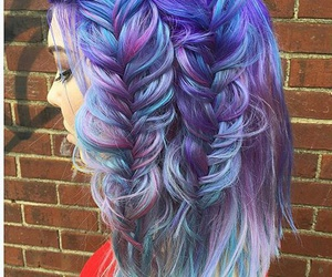 hairstyle, hair, and blue image