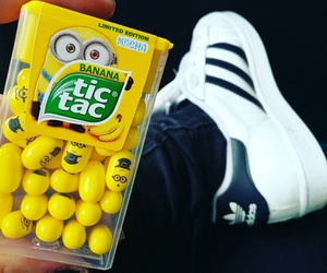 adidas, banana, and minions image