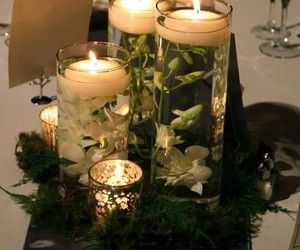 centerpieces, decorating centerpieces, and glass candle holders image
