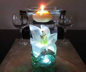 centerpieces, glass candle holders, and candle centerpieces image