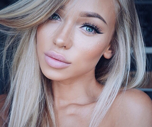 blondie, tan, and makeup image