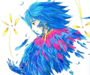 anime, blue, and color image