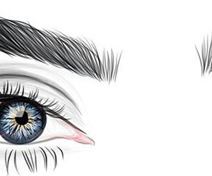 eyes, outline, and blue image
