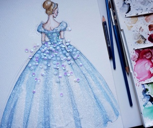 art, cinderella, and drawing image