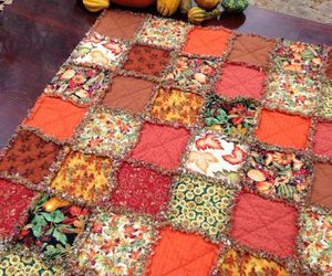 autumn, quilts, and i love fall image