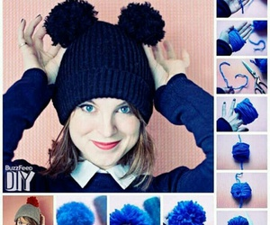 diy, blue, and hat image
