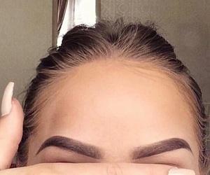 eyebrows, girl, and girlythings image